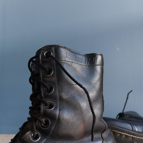 Vintage 1960s Combat Boots Black Leather Military… - image 7