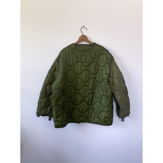 LRG   M-65 Liner Quilted Military Green Liner Coat - image 3