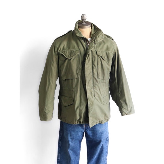Vintage Military Jacket M65 Army Jacket with Liner