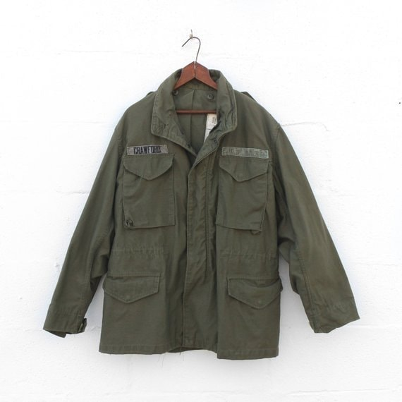 MED | M65 Olive Green Field Jacket 1980's Army Mil