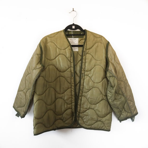 SML | M-65 Liner Quilted Military Green Liner Coat