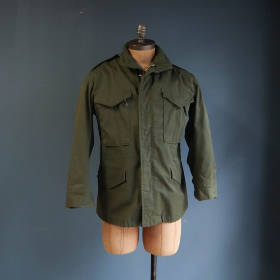 Civilian Issued M65 Field Jacket Olive Green 1980s