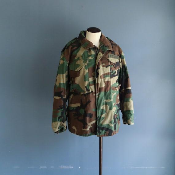 Vintage M65 Woodland Camo Jacket 1990s Field Jacke