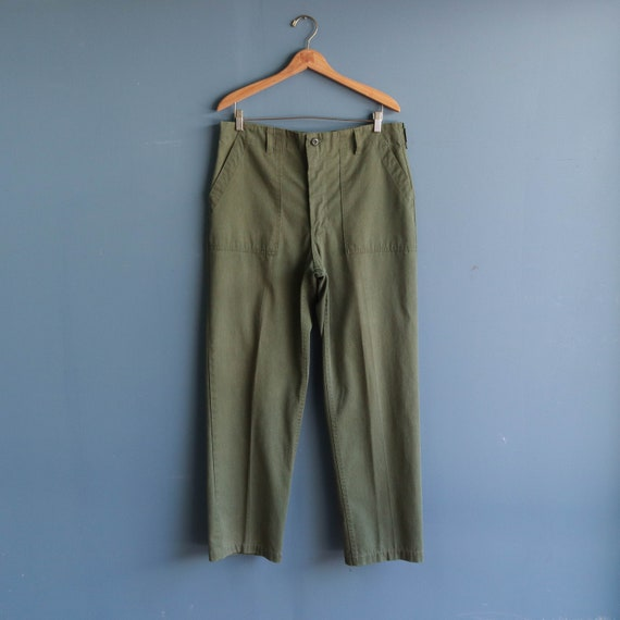 Vintage Military Trousers | OG 107 Cotton Army Pan