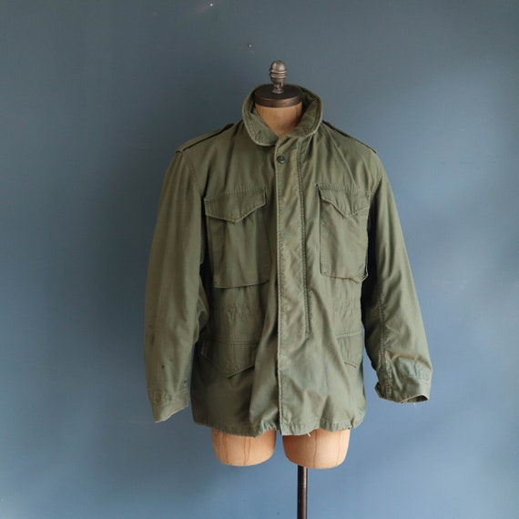 Vintage M65 Field Jacket Late 1980's Olive Green M