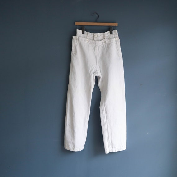 Vintage White Cotton Sailor Pants