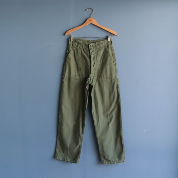 Vintage Military Trousers OG 107 Cotton Army Pants