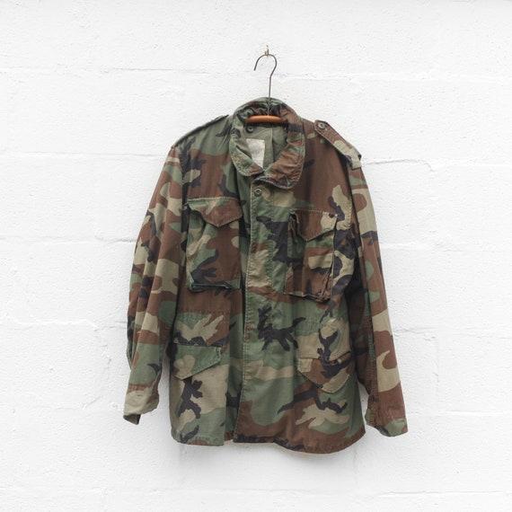 Vintage Camouflage Jacket M65 Military Jacket size