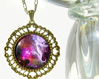 """Guardian Angel, Original Art Necklace by Primal Painter """"The Guardian"""""""