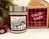 Shitter s Full Cousin Eddie RV Christmas Vacation Clark Griswold 11oz Scented coco soy Christmas Holiday Candle with gift box