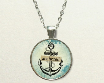 Nautical Anchor Necklace, anchor jewelry, anchor pendant necklace, nautical necklace, nautical jewelry, nautical pendant, nautical gifts