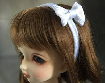 MSD Headband with Bow in White
