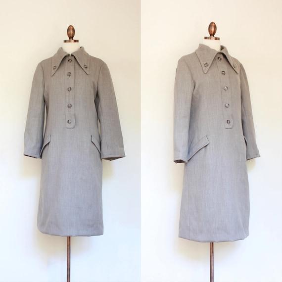 f43db1b599c vintage 1960s Geoffrey Beene mod shirtdress coatdress 60s