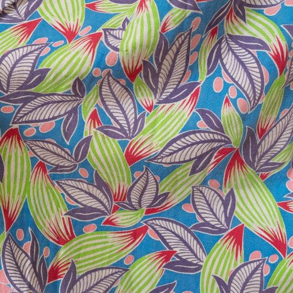 vintage 1940s bright botanical printed feed sack … - image 10