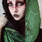 Green Leaf scarf wings nature bohemian dancing foulard pashmina green foulard gift Headscarf