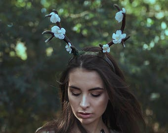Horns Headdress Antlers Headband Faun Headpiece