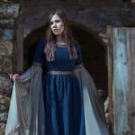 Blue Medieval Dress Celtic gown elven dress long sleeves