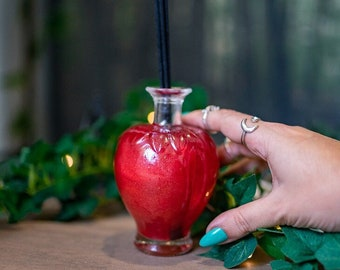 Reed Diffuser - Mikado aroma - Acid Strawberry - Glass fairytale decoration