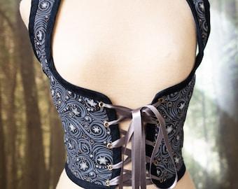 Winter Fairy bodice, Frozen Renaissance corset snowflake cottagecore style  corset vest, Wench regency Pirate