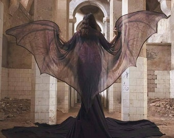 Bat wings dragon demon cape Halloween costume adult Fairy cape belly dance cloak