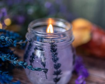 Gel Candle - Jelly Lavender transparent Candle - Lavender Scent