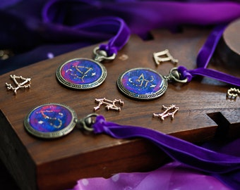 Constellation Necklace zodiac jewelry stars nebula pendant galaxy astrology cosmos lover universe gift