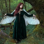 Fairy Wings Cicada natural white costume cape  costume Festival Clothing Gelfling Dark Crystal