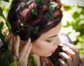 Leaves hair pins , ivy bridal hair pins, whimsical wedding accessory, bridal head piece, woodland wedding
