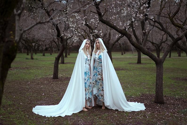 57cc1d8116c5d Wedding cape bridal cloak natural white ivory satin cape with | Etsy