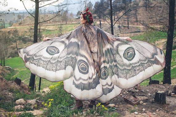 Motte Flügel Kostüm Schmetterling Umhang Fee Flügel Festival Kleidung brennen Mann Motte Kostüm