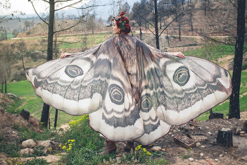 Moth wings costume  butterfly cape fairy wings festival image 0