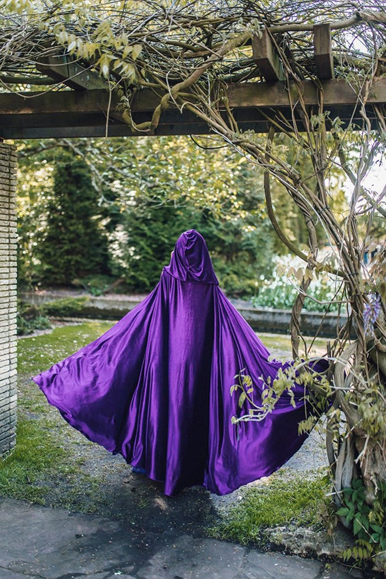 Purple velvet stretch Cloak Velvet Cape Costume Cape Fairytale image 0