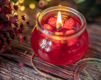 Gel Candle - Jelly forest berries transparent Candle - Red Fruits Scent