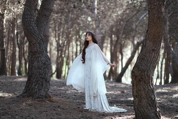De Costume Robe Blanc Médiéval Mariage ElfiqueMédiévalAvant Celtique PréraphaéliteGothiqueFaery Galadriel FcuTJ1l3K