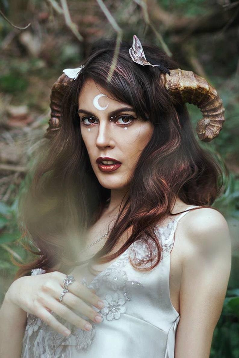 Faun Horns Cosplay Costume Ram Fairy headpiece image 0
