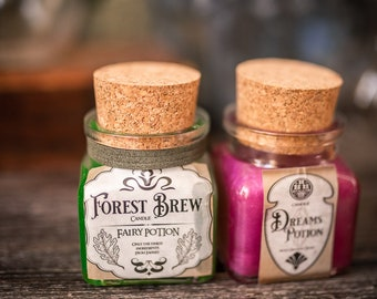 Potion Bottle Gel Candle - Roleplaying sparkling Candle