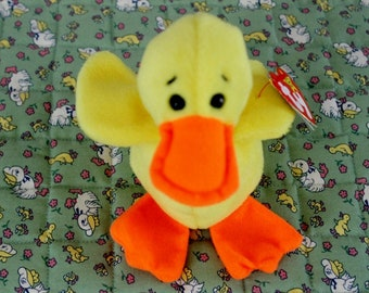 Ty Beanie Baby Quackers the Duck 1994 great condition yellow and orange  plush 89223e5647cc