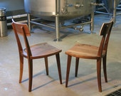modern walnut dining chair