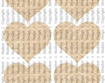 Dollar download Vintage Shabby Chic cream Large plain heart BasesTags  Digital Collage sheet Printable