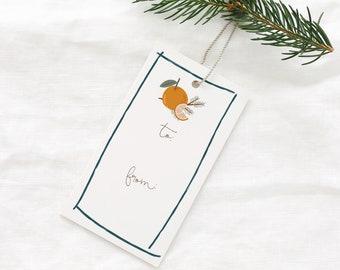 PRINTABLE GIFT TAGS - Christmas & Holiday gift tags, vintage color, printable gift tags