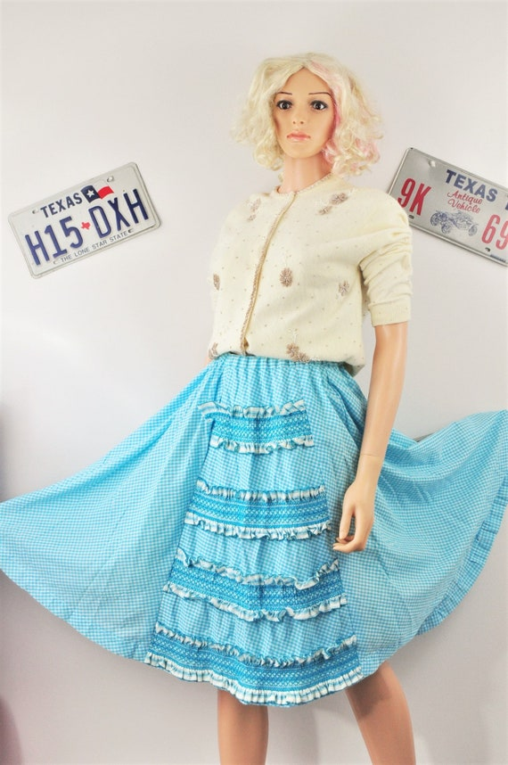 Vtg 50s 60s graphic dress fit full skirt-waist is 26