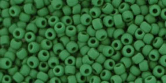 Toho Seed Beads 11//0 47HForest Green Opaque