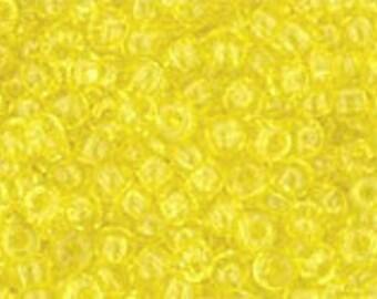 Japanese (TOHO) 11/0, Seed Bead, TRANSPARENT LEMON, #12, yellow, lemon, bright yellow, Kumihimo, Beadweaving, Beading, Jewelry