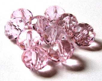 SALE - 70 pcs. Light Pink Crystal Quartz Faceted Rondelle Beads - 8mm