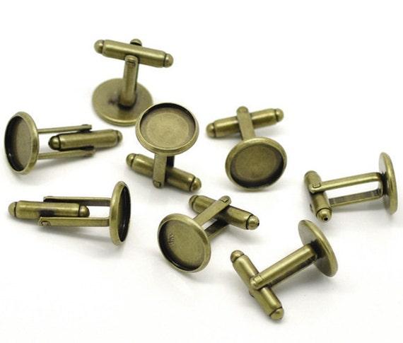 Lot de 20 Antique Bronze manchette (10 paires) colle - 12 mm colle paires) cadre de lunette Pad 3aa680