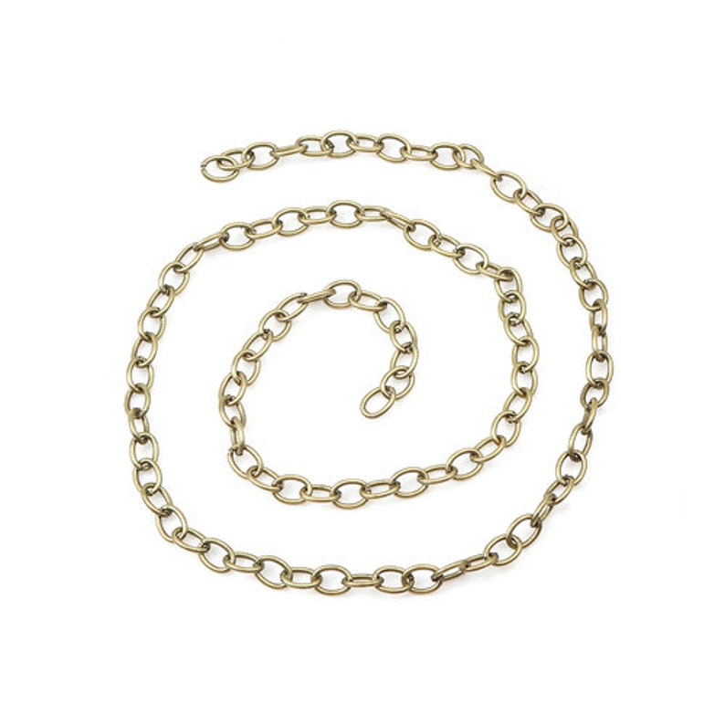 7x5mm 32.8 Ft 10M - Antique Bronze Oval Iron Cable Chain Link 7mm x 5mm 5x7mm