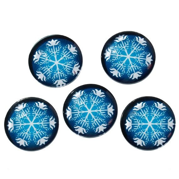 25mm 1 inch - 10 pcs Circle Galaxy Round Glass Dome Seals Tiles Cabochons