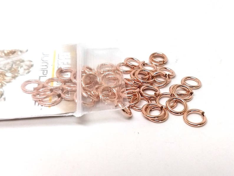 16 Gauge 8mm Beadsmith 10 pcs Real Rose Gold Filled Jump Lock Anti-Tarnish Coating!
