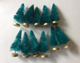 10 pieces plain small christmas trees brush christmas trees sisal brush tree lot 001 - Small Christmas Trees With Lights