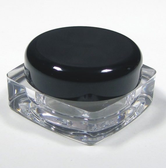 6a4b410db4d6 50 Beauty Containers Plastic Thick Wall Square Cosmetic Jars Lip Balm  Eyeshadow Pot - 5 ml / 5 Gram (Black Cap) 3038-50 | FREE US Shipping